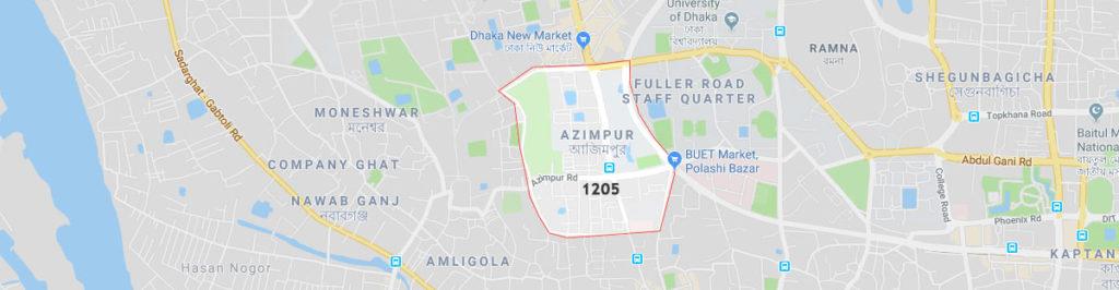 Azimpur postal code