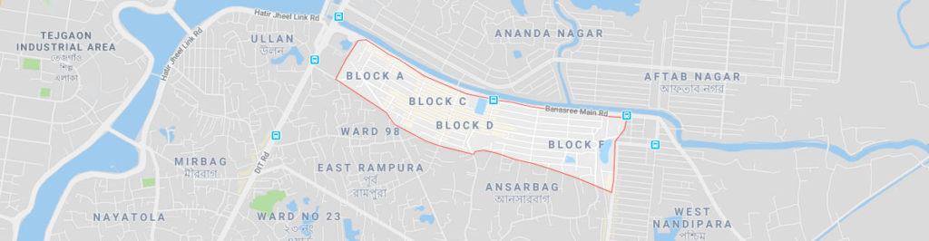Banasree dhaka postal code