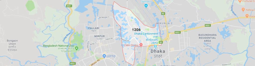 Dhaka cantonment postal code
