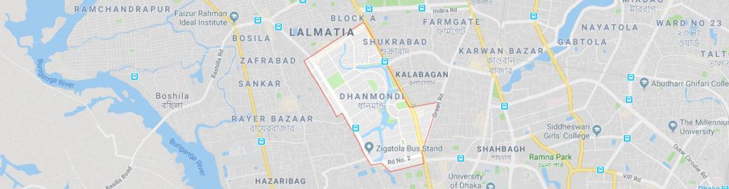 Dhanmondi dhaka postal code or zip code