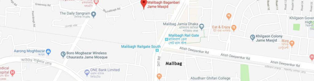 Malibagh postal code