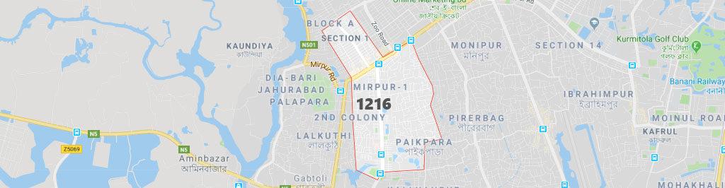 Mirpur 1 postal code