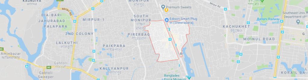 Shewrapara postal code