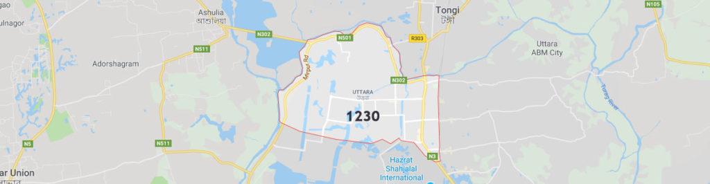 Uttara postal code, postal code is Uttara and zip code