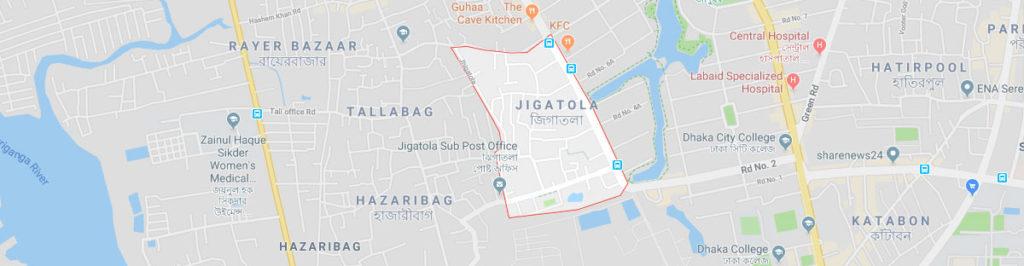 Zigatola postal code Dhaka