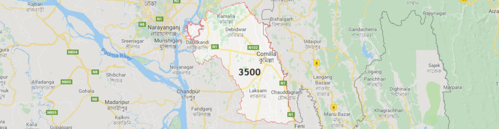 Comilla postal code, The postal code of Cumilla