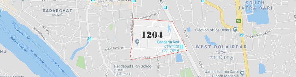 Gandaria Dhaka Postal Code