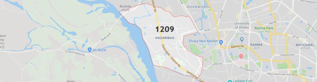 hazaribagh postal code Dhaka