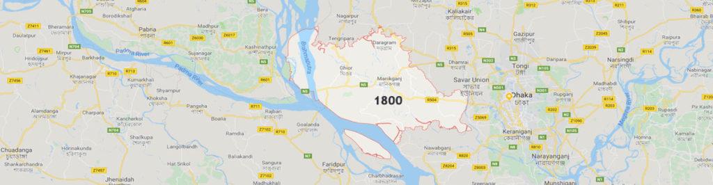 Manikganj postal code
