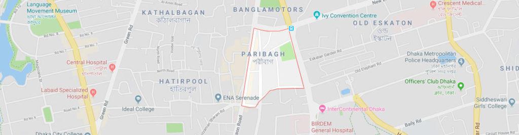 Paribagh Dhaka postal code