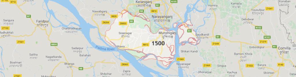 Postcode of Munshiganj