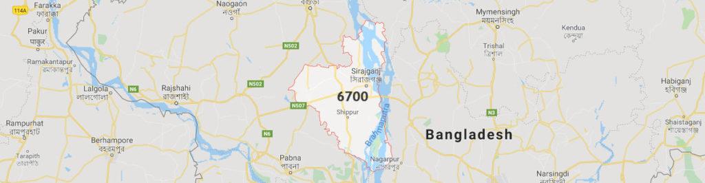 Sirajganj postal code