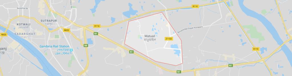 Matuail Jatrabari Dhaka postal code