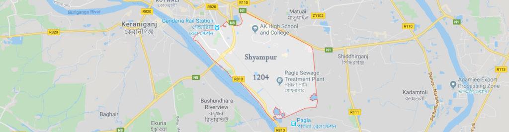 Shyampur postal code