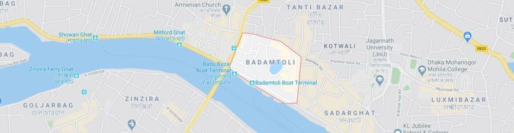 Badamtoli Dhaka Postal code