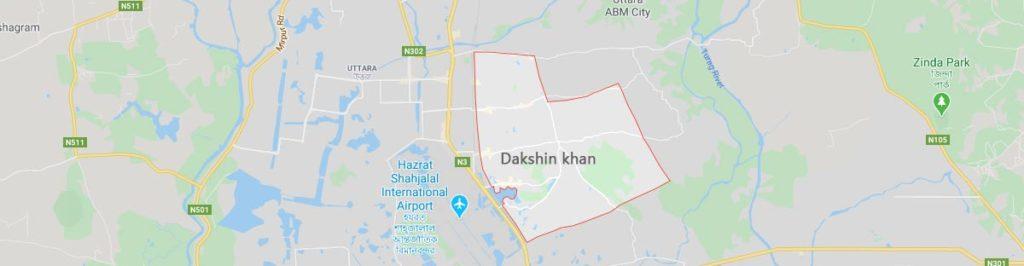 Dakshin khan postal code Dhaka